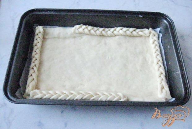 Открытый пирог с повидлом.