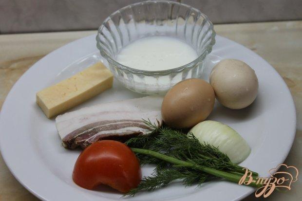 Рецепт Омлет с помидорами и беконом