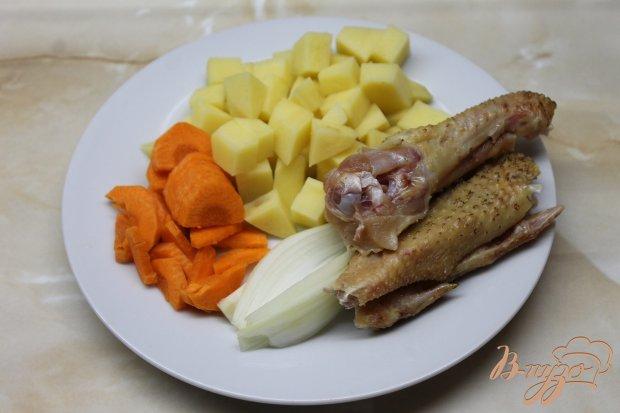 Куриный супчик с вермишелью и яйцом