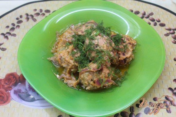Тефтели в сметано - томатном соусе
