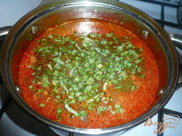 Рисовый томатный суп с фасолью