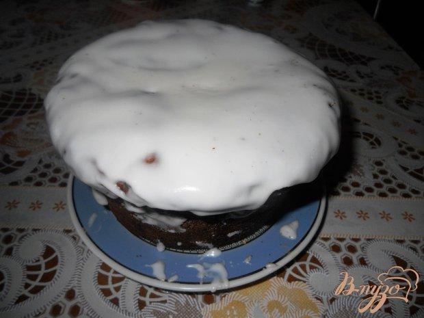 Кекс на дрожжах с глазурью