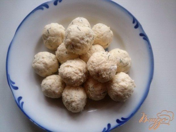 Творожные шарики с укропом во фритюре