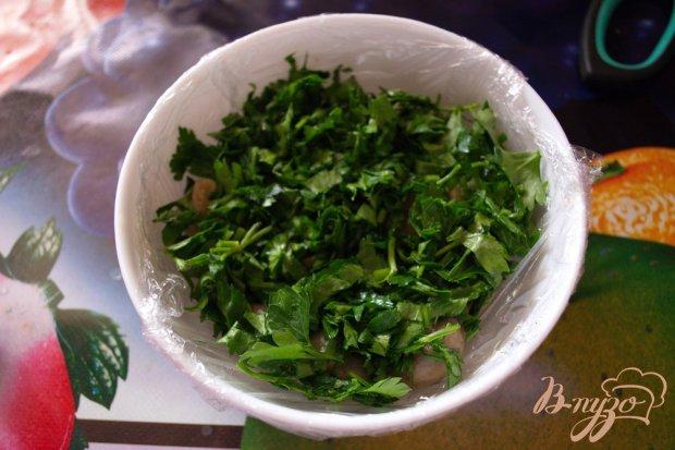 Салат Лесная полянка с корейской морковкой