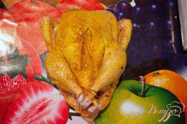 Курица запеченая с луковым сливочным соусом