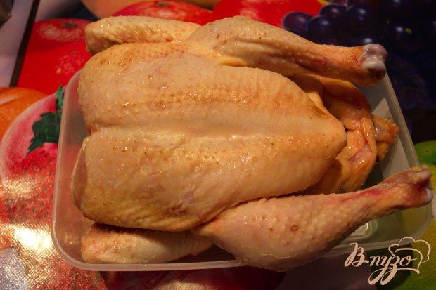 Рецепт Курица запеченая с луковым сливочным соусом