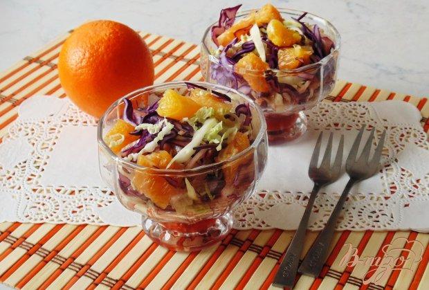 Капустный салат с апельсином.