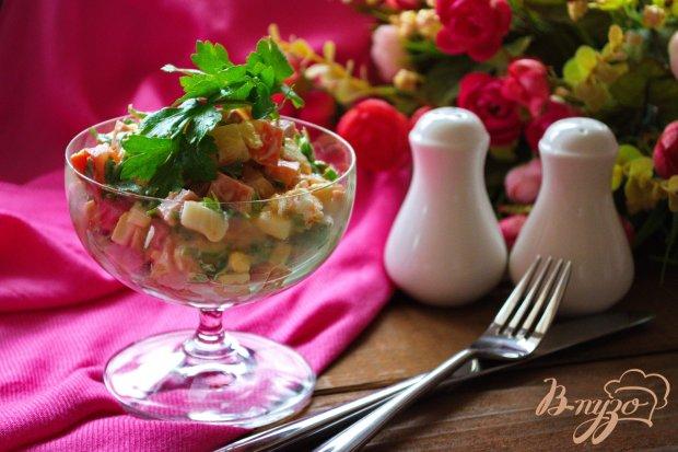 Салат с прикопченным вкусом