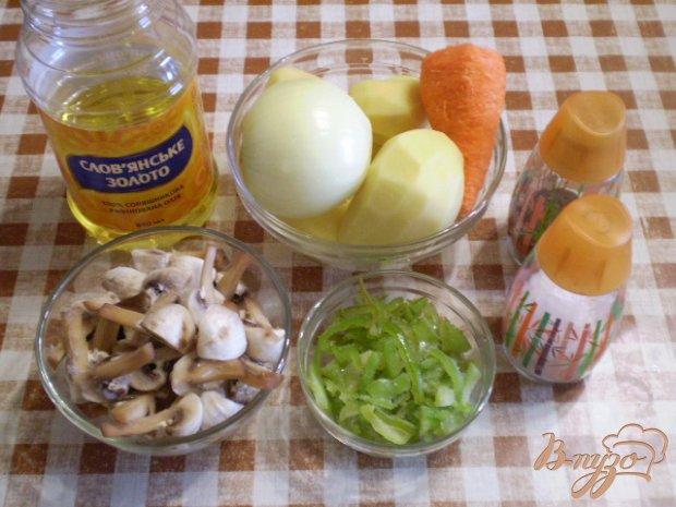 Рецепт Картофель с грибами в мультиварке