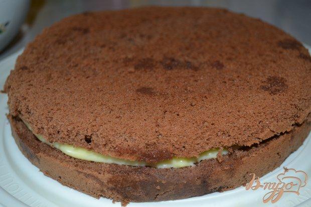 Шоколадный бисквит с нежным кремом