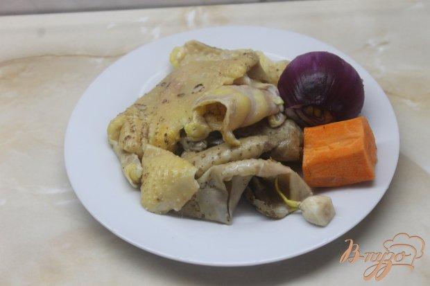 Утиные шкварки с овощами