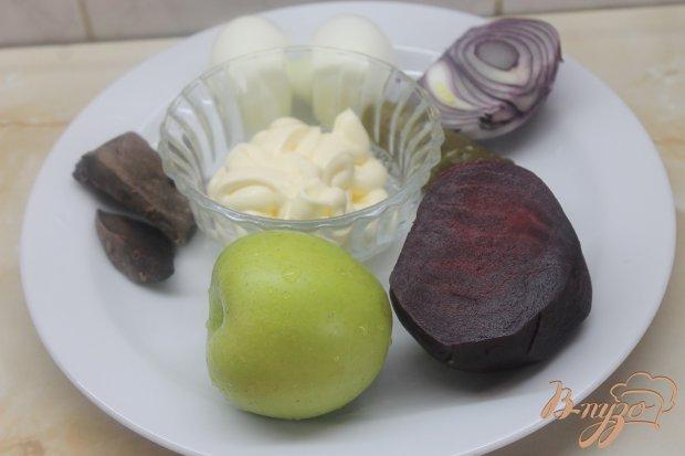 Рецепт Салат свиная печень под шубкой