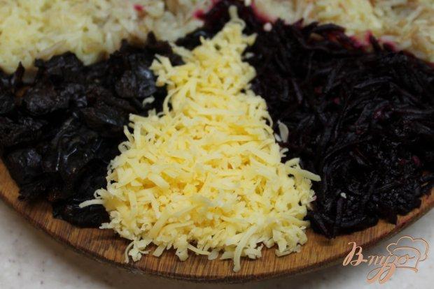 Салат фуршет со свеклой, сыром и картофелем
