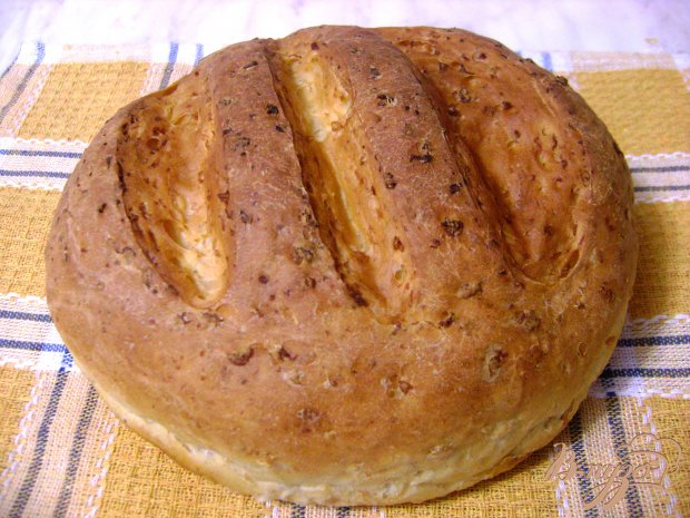 Домашний хлеб на гречневых хлопьях