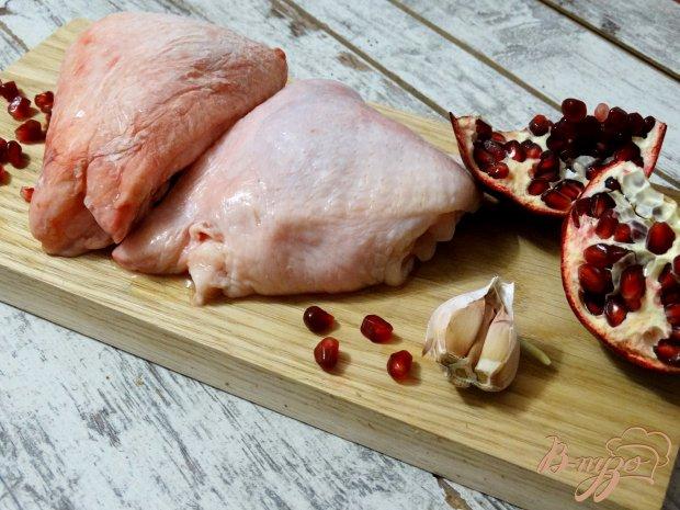 Рецепт Курица в гранатовом маринаде с запеченным картофелем