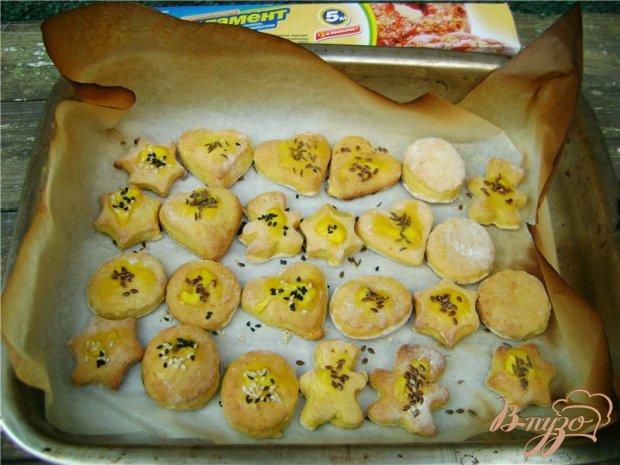 Тыквенное фигурное печенье
