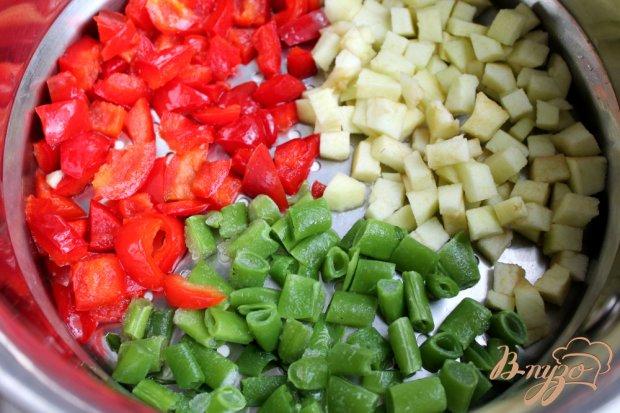 Рецепт Рыбный салат с овощами на пару