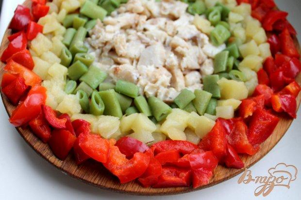Рыбный салат с овощами на пару