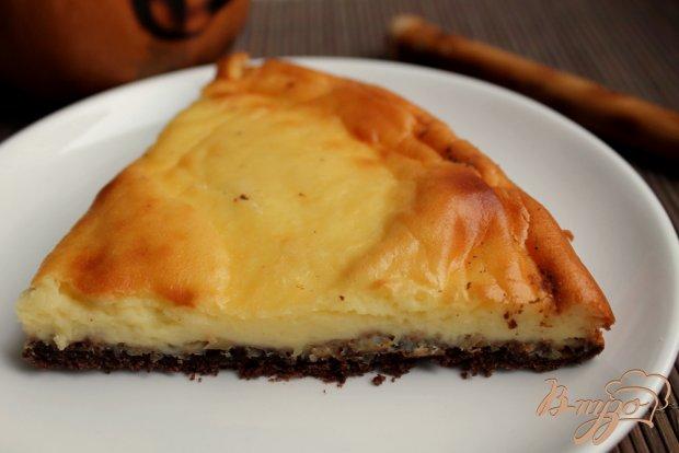 Шоколадный пирог с творожным суфле