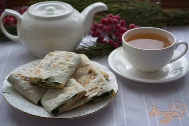 Лаваш с сырной начинкой к чаю