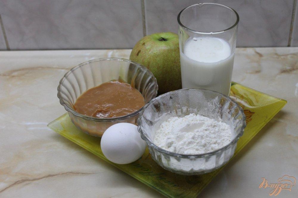 Фото приготовление рецепта: Оладьи с вареной сгущенкой и сладким яблоком шаг №1