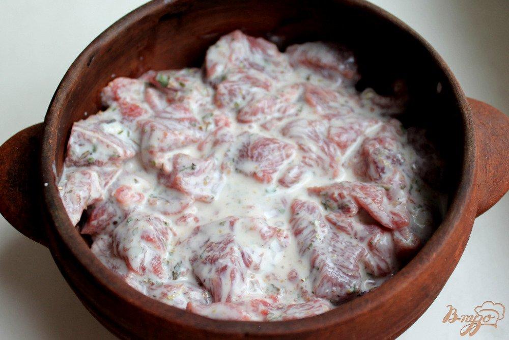 Фото приготовление рецепта: Говядина в горшочке шаг №4