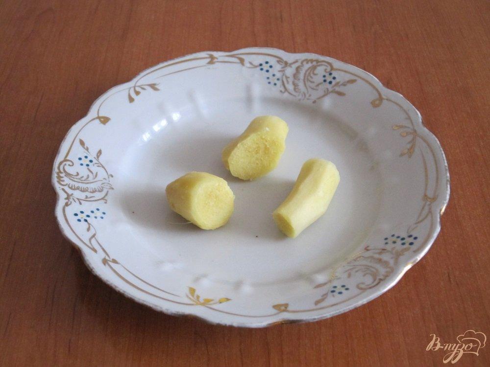 Фото приготовление рецепта: Апельсиновый коктейль-смузи шаг №4