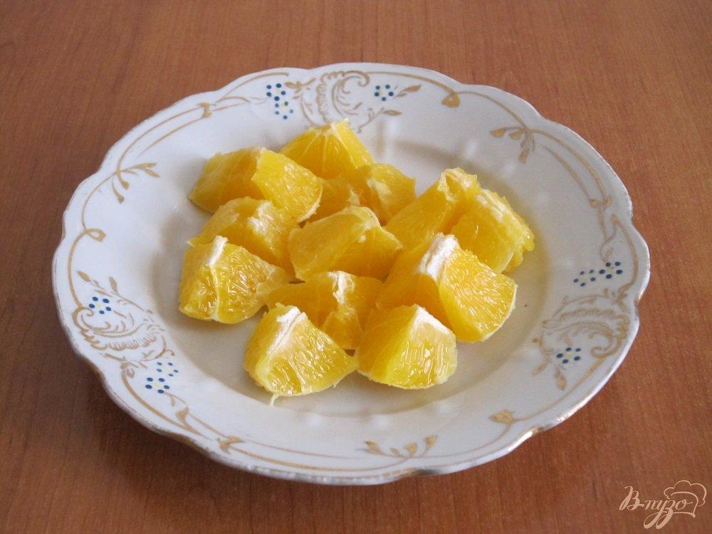 Фото приготовление рецепта: Апельсиновый коктейль-смузи шаг №7