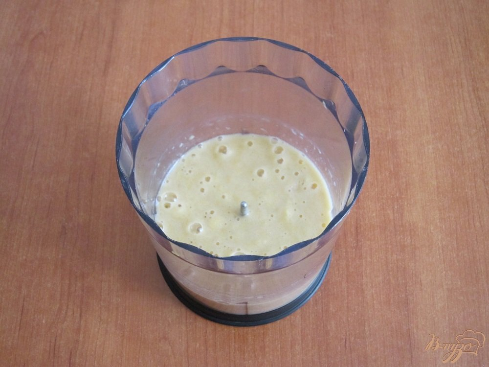 Фото приготовление рецепта: Апельсиновый коктейль-смузи шаг №8