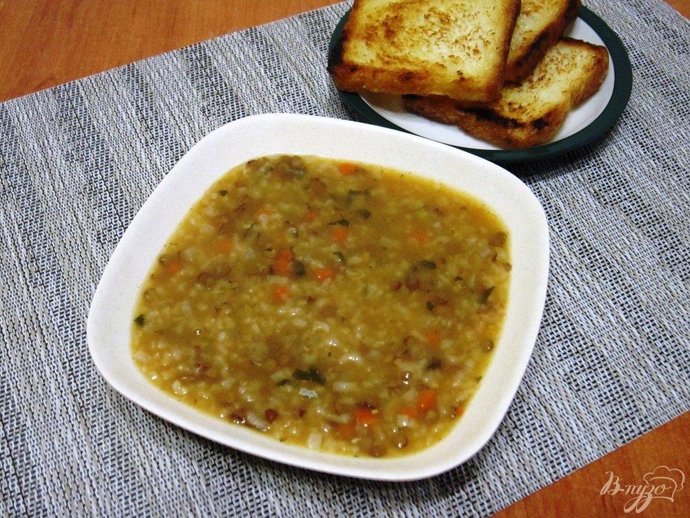 Фото приготовление рецепта: Суп с рисом и чечевицей шаг №8