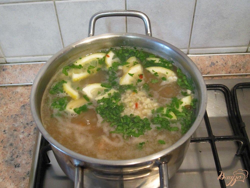 Фото приготовление рецепта: Суп с рисом и чечевицей шаг №6