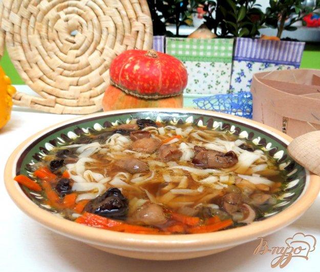 фото рецепта: Грибной суп лапша