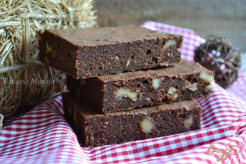 Шоколадные брауни с грецкими орехами - пошаговый рецепт с фото.