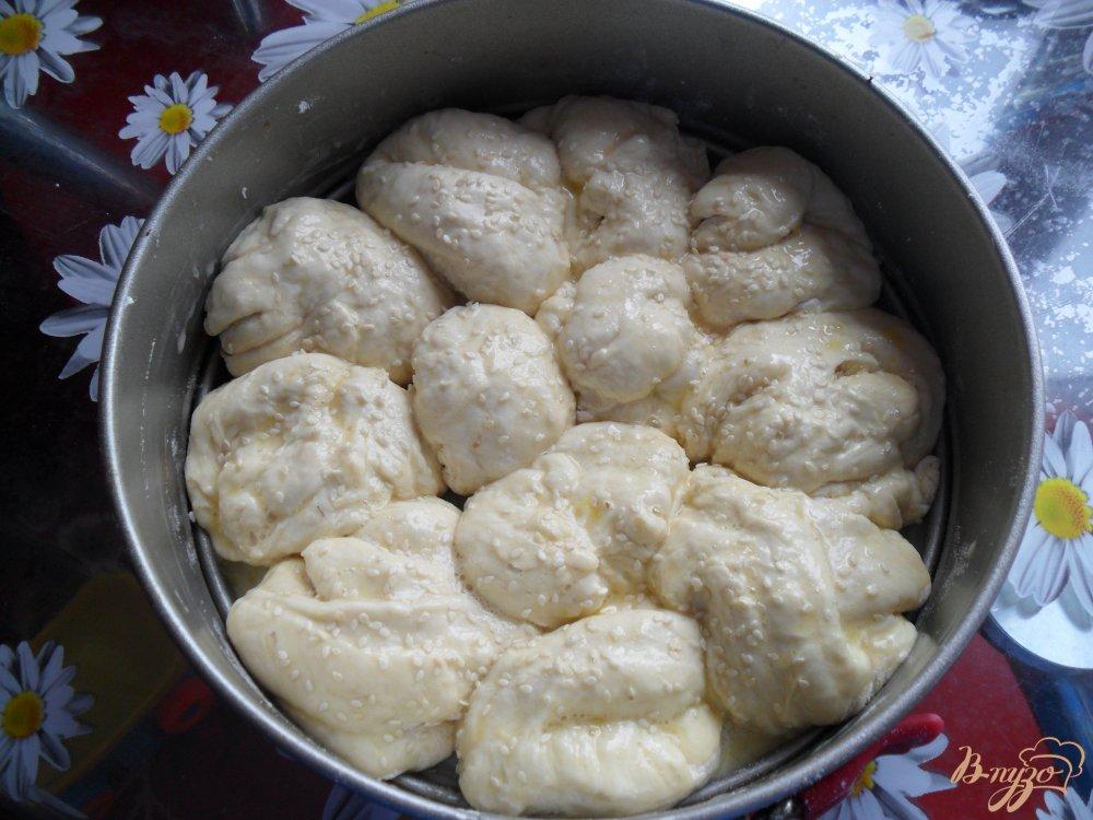 Фото приготовление рецепта: Воздушный хлеб на кефире шаг №7