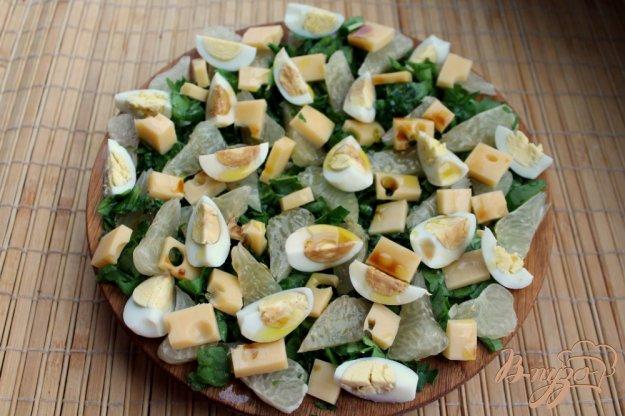 фото рецепта: Салат со щавелем сыром и помело