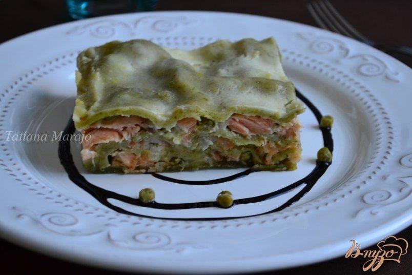 Фото приготовление рецепта: Лазанья с морепродуктами шаг №13