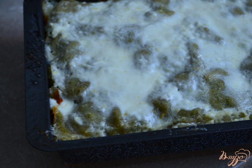 Фото приготовление рецепта: Лазанья с морепродуктами шаг №12
