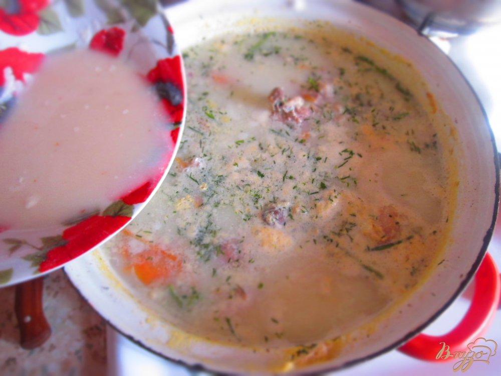 Фото приготовление рецепта: Суп с кроликом и фасолью на молоке шаг №6