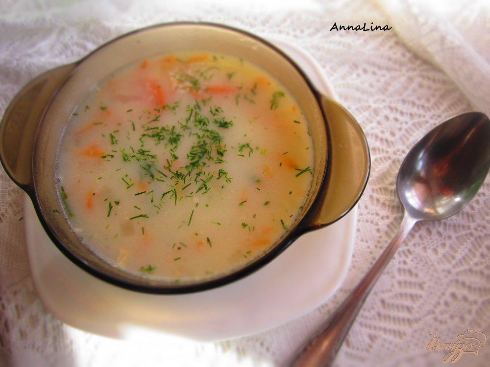Фото приготовление рецепта: Суп с кроликом и фасолью на молоке шаг №7