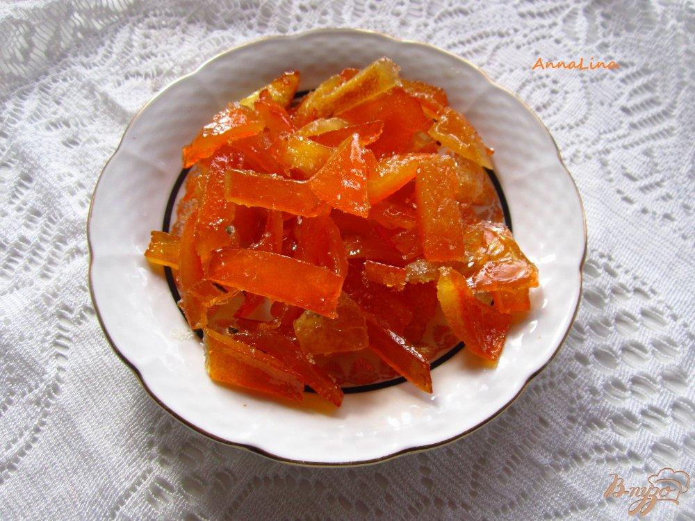 Фото приготовление рецепта: Апельсиновые цукаты шаг №5