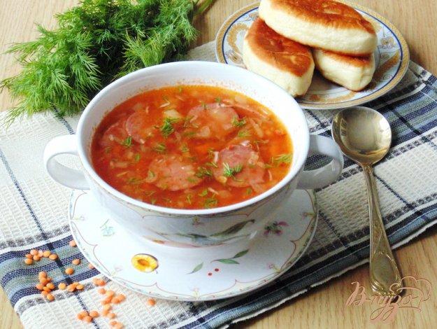 фото рецепта: Суп с красной чечевицей и томатом