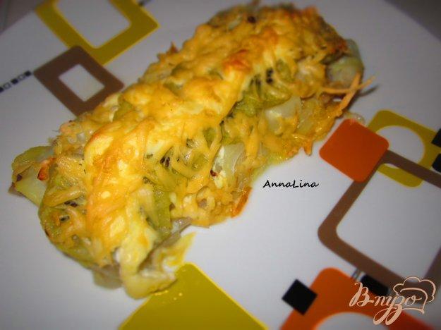 фото рецепта: Пангасиус с киви под сыром