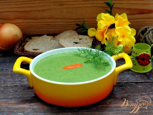 фото рецепта: Суп пюре из горошка и шпината