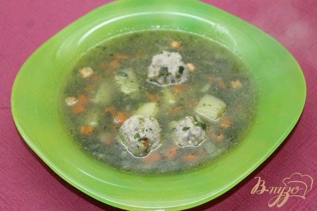 фото рецепта: Шпинатный суп с фрикадельками