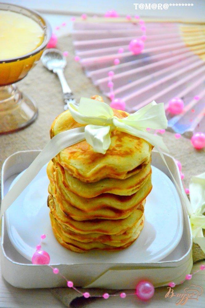 Фото приготовление рецепта: Апельсиновые панкейки шаг №7