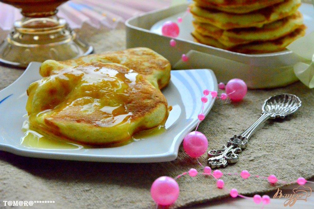 Фото приготовление рецепта: Апельсиновые панкейки шаг №8