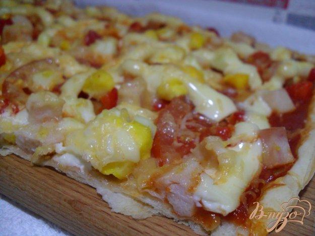 фото рецепта: Пицца на слоенном тесте