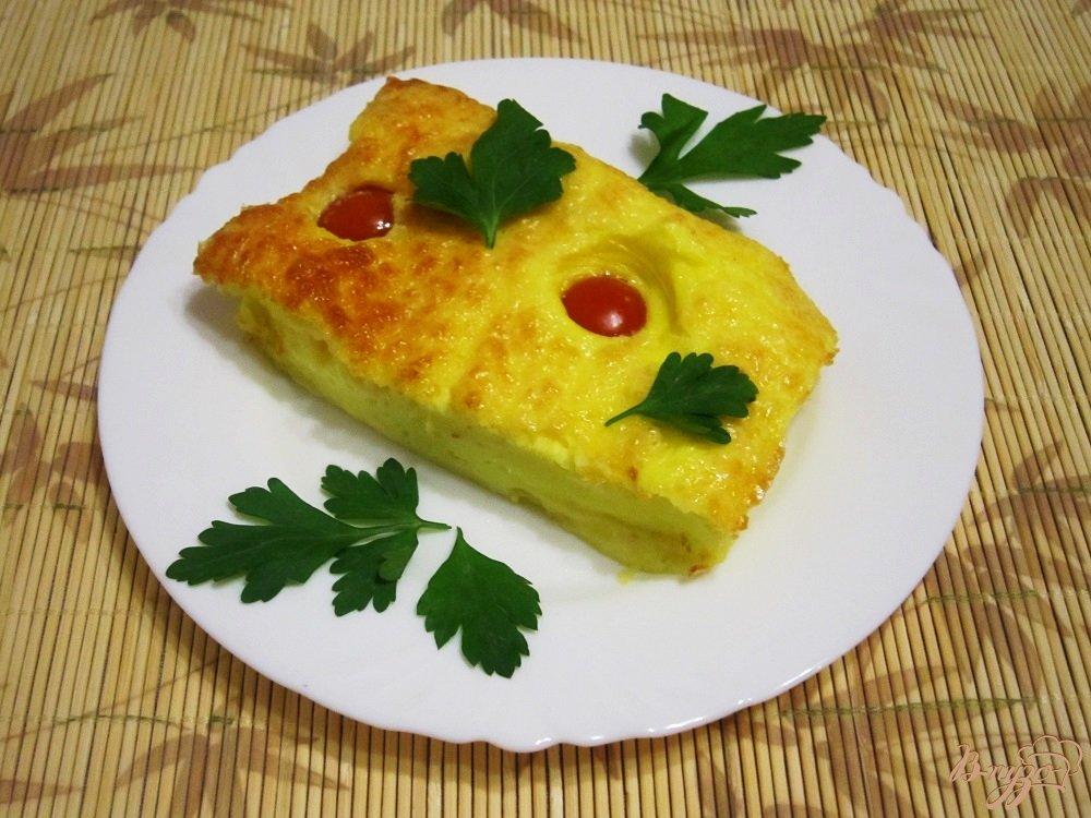 Фото приготовление рецепта: Омлет с сыром шаг №9