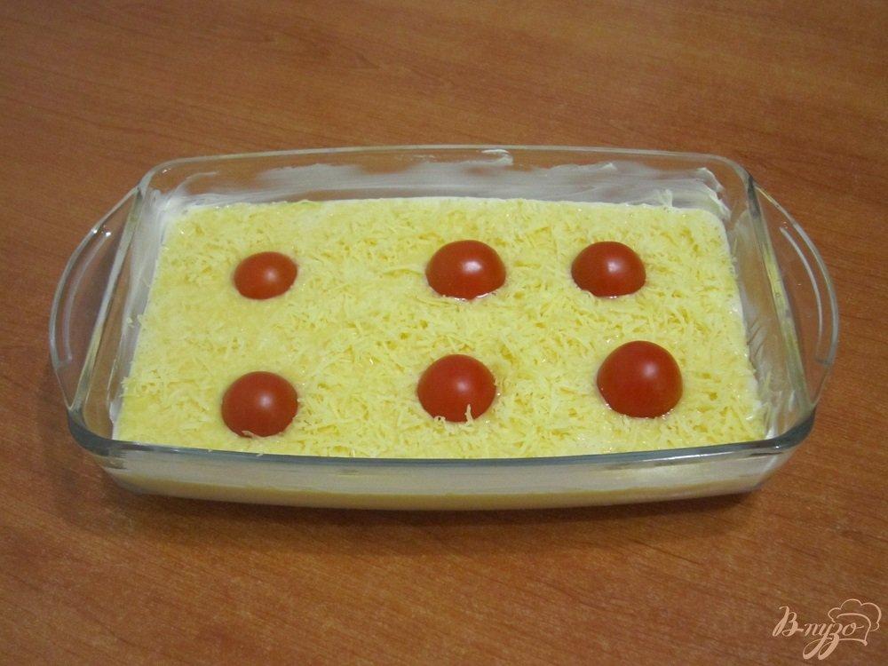 Фото приготовление рецепта: Омлет с сыром шаг №7