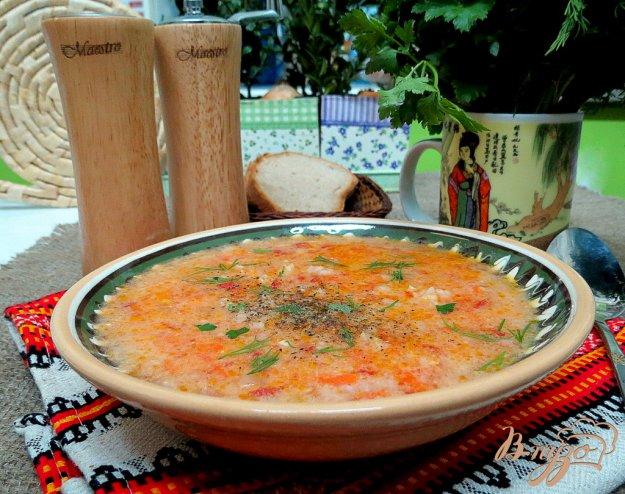 фото рецепта: Томатный суп с рисом